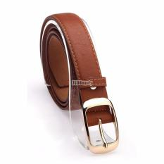 Toko Sunweb Fashion Wanita Faux Leather Belt Gadis Aksesoris Mode Brown Hong Kong Sar Tiongkok