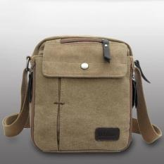 Toko Sunweb Men Messenger Bag Canvas Vintage Shoulder Crossbody Bagsoutdoor Travel Bag Brown Terlengkap Di Jawa Timur