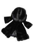 Spesifikasi Sunweb Bulu Imitasi Wanita Lengan Panjang Jaket Mantel Panjang Hitam Lengkap Dengan Harga