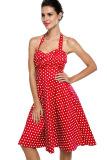 Beli Sunweb Wanita Kutang Polka Dot Warna Without Lengan Ikat Tinggi Sandaran Ayunan Gaun Midi Merah Yang Bagus
