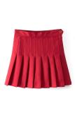 Diskon Produk Sunweb Ikat Tinggi Wanita Garis Berlipat Rok Mini Tenis Pemukiman Merah