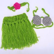 Jual Supercart Baby G*rl 3 Pieces Foto Prop Fotografi Kostum Prop Rajutan Crochet Headband Bra Dan Rok Set Intl Oem Asli