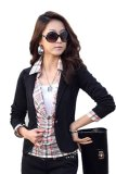 Toko Supercart Women Ol Coat Lapel One Button Long Sleeve Short Suit Blazer Jackets Coatsi¼ˆblack Termurah Di Tiongkok