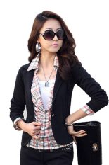 Beli Supercart Women Ol Coat Lapel One Button Long Sleeve Short Suit Blazer Jackets Coatsi¼ˆblack Murah Di Tiongkok