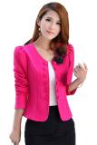 Harga Supercart Baju Wanita Lengan Panjang Jaket Mantel Pendek Berwarna Merah Muda Terbaru