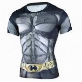 Promo Toko Superhero Batman 3D Muscle Shirt Pria Slim Fit T Kemeja Binaraga Muscle Top Spandex Kompresi Shirt Streetwear