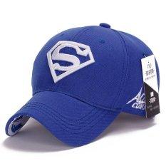 Superman Bisbol Cap Topi untuk Pria Wanita Adjustable S Surat Kasual Kolam Snapback  Topi (hitam 8cb11290d6