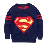 Jual Superman Musim Semi Dan Musim Gugur Lapisan Ganda Hangat Kemeja Rajut Anak Laki Laki Sweter Superman Biru Tua Murah Di Tiongkok