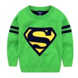Superman Musim Semi Dan Musim Gugur Lapisan Ganda Hangat Kemeja Rajut Anak Laki Laki Sweter Superman Hijau Other Diskon 50