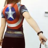 Superman Perempuan Lengan Pendek Kebugaran Pakaian Perempuan Kebugaran Perempuan Kemeja Kebugaran Pakaian The Avengers Guarda Other Diskon 30