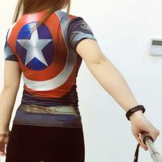 Toko Superman Perempuan Lengan Pendek Kebugaran Pakaian Perempuan Kebugaran Perempuan Kemeja Kebugaran Pakaian The Avengers Guarda Terdekat