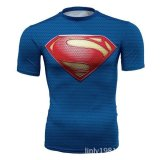 Superman T Shirt Tights Pria Superhero Film Kapten Amerika Motion Lengan Pendek Intl Ileago Diskon 40