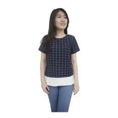Toko Supersale Baju Wanita Zhella Top Biru Murah Indonesia