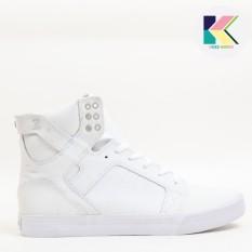 Supra Skytop Mens Sneakers Skate Sepatu S18191 Putih Triple White Intl Asli