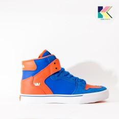 Jual Beli Online Supra Vaider Mens Sneakers Skate Shoes Blue Orange S28222 Intl