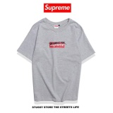 Spesifikasi Supreme Fashion Box Casual Brand Sulaman T Shirt Lengan Pendek Intl Murah Berkualitas