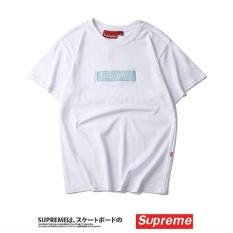 Jual Supreme Fashion Leisure T Shirt Pria Cetak Katun Pasangan Lengan Pendek Kaos International Oem Online