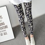 Situs Review Sutra Susu Pakaian Luar Bagian Tipis Celana Panjang Perempuan Legging Lee Jeans Huruf Berwarna Biru
