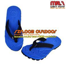 Miliki Segera Suzuran Sandal Gunung Flip Flop Mr1 Blue W Black