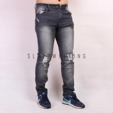 Harga Sw Celana Jeans Sobek Panjang Pria Greywash Sleepwalking Baru