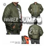 Beli Sw Jaket Bomber Jumbo Pria Hijau Army Kredit