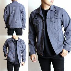 Harga Sw Jaket Jeans Pria Riped Sobek Best Seller Premium Termurah