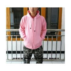 Jual Sw Jaket Sweater Hoodie Pria Baby Pink Branded