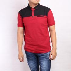 Perbandingan Harga Sw Kaos Kerah Pria Combinasi Hitam Merah Di Jawa Barat