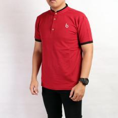 Harga Sw Kaos Kerah Pria Merah Sleepwalking Online