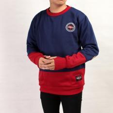 Penawaran Istimewa Sw Sweater Pria Navy Merah Terbaru