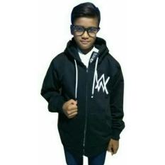 Jual Sweater Anak 7 S D 10 Tahun Alan Walker Zipper Fleece Tebal Hitam Online