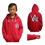 Harga Sweater Anak Alan Walker Bw Maroon Fleece Tebal Asli