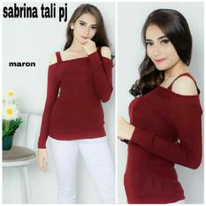 TERBARU Sweater Cewek Sabrina Lengan Panjang / Blouse Wanita / Atasan Wanita Kasual Pas Body Stretch
