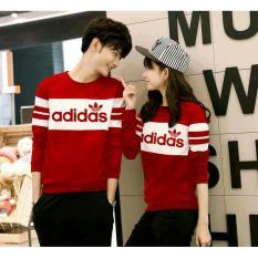 Sweater Couple New Adidas Merah Asli