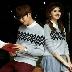 Jual Beli Sweater Couple Zigzag Abu Di Dki Jakarta