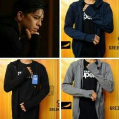 Sweater Greenlight Rajut Ariel / Jaket Fleece Hoodie / Zipper - Dcd69e