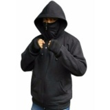 Sweater Hodie Sweater Polos Ninja Finger Premium Quality Fleece Tebal Hitam Asli