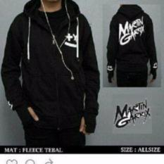 Obral Sweater Hodie Zipper Finger Martin Garrix Black Fleece Tebal Murah
