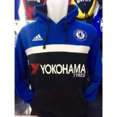 Spesifikasi Sweater Hoodie Bola Chelsea C 621B Jumper The Blues Kombinasi Biru Dan Harganya
