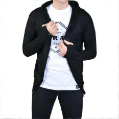 Sweater Hoodie Knite Rajut Ariel - Hitam