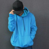 Beli Sweater Hoodie Polos Biru Muda Cicil