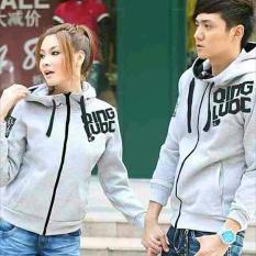 Sweater Hoodie Zipper Abu Abu Couple Dki Jakarta