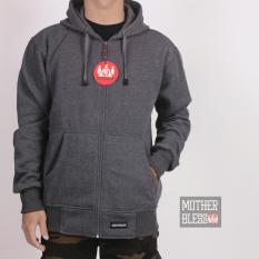 Beli Sweater Hoodie Zipper Abu Tua Dengan Kartu Kredit