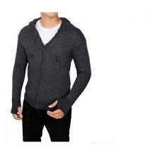 Promo Toko Sweater Hoodie Zipper Polos Murah Abu Tua