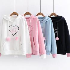 Toko Sweater Hoody Dear Lover Putih Oem Online