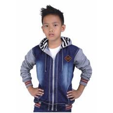 Jual Sweater Jaket Anak Laki Laki Catenzo Junior Cnu 140 Biru Kombinasi Online Jawa Barat