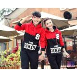 Spesifikasi Sweater Jaket Couple Pasangan Hockey 8 Hitam Merah Couple Store Cs Terbaru