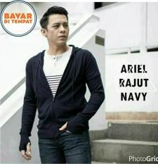 Sweater Jaket Rajut Ariel Noah Best Seller - Navy