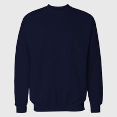 Jual Sweater Polos Biru Navy Dongker Tidak Ada Merk Asli