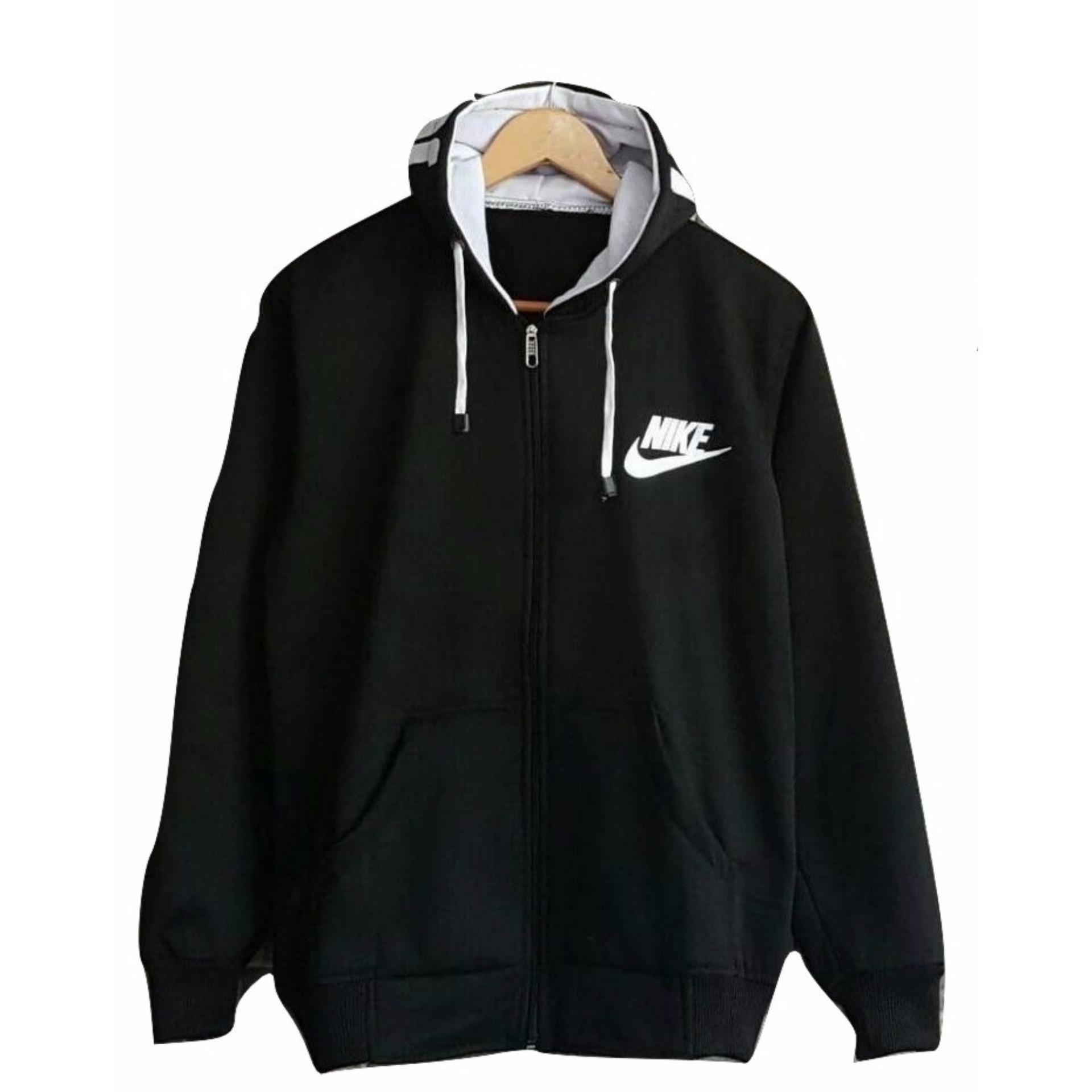 Kualitas Oke Sweater Pria Hodie - Sweater Hodie Text Black - Fleece